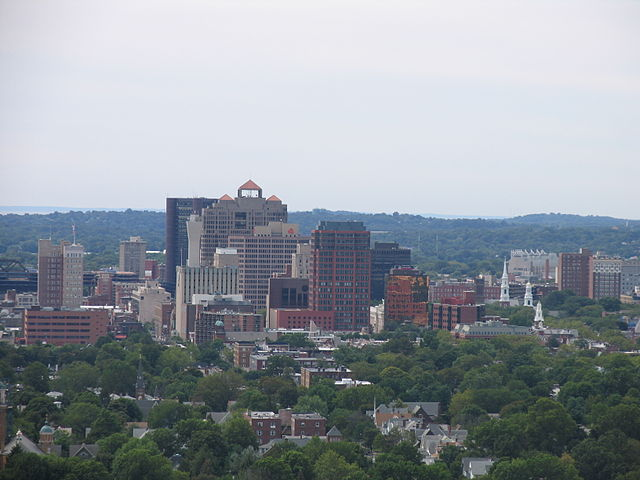 New Haven from East Rock Photo courtesy of Wikimedia Commons